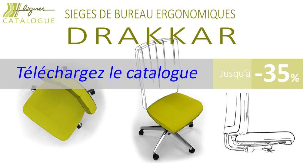 Catalogue de sièges de bureau ergonomiques Drakkar à télécharger